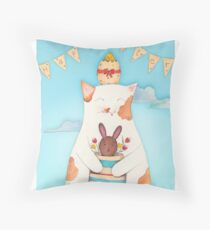 Easter Blossom Throw Pillow