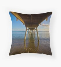 Under The Jetty Throw Pillow