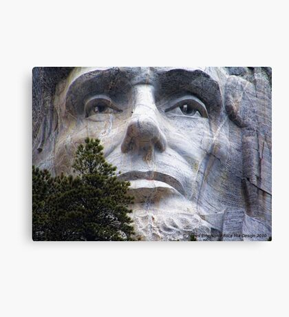 Lincoln on Rushmore Canvas Print