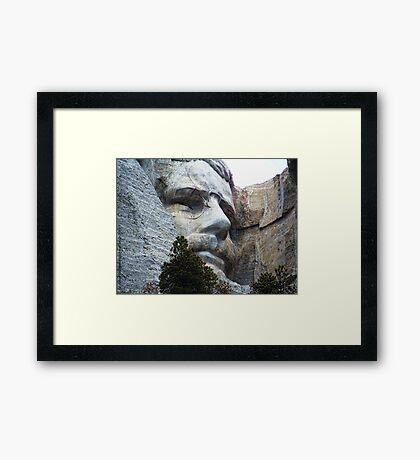 Roosevelt on Rushmore Framed Print