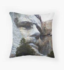 Roosevelt on Rushmore Throw Pillow