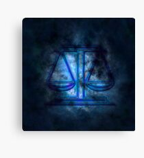 Zodiac signs - Scales Canvas Print