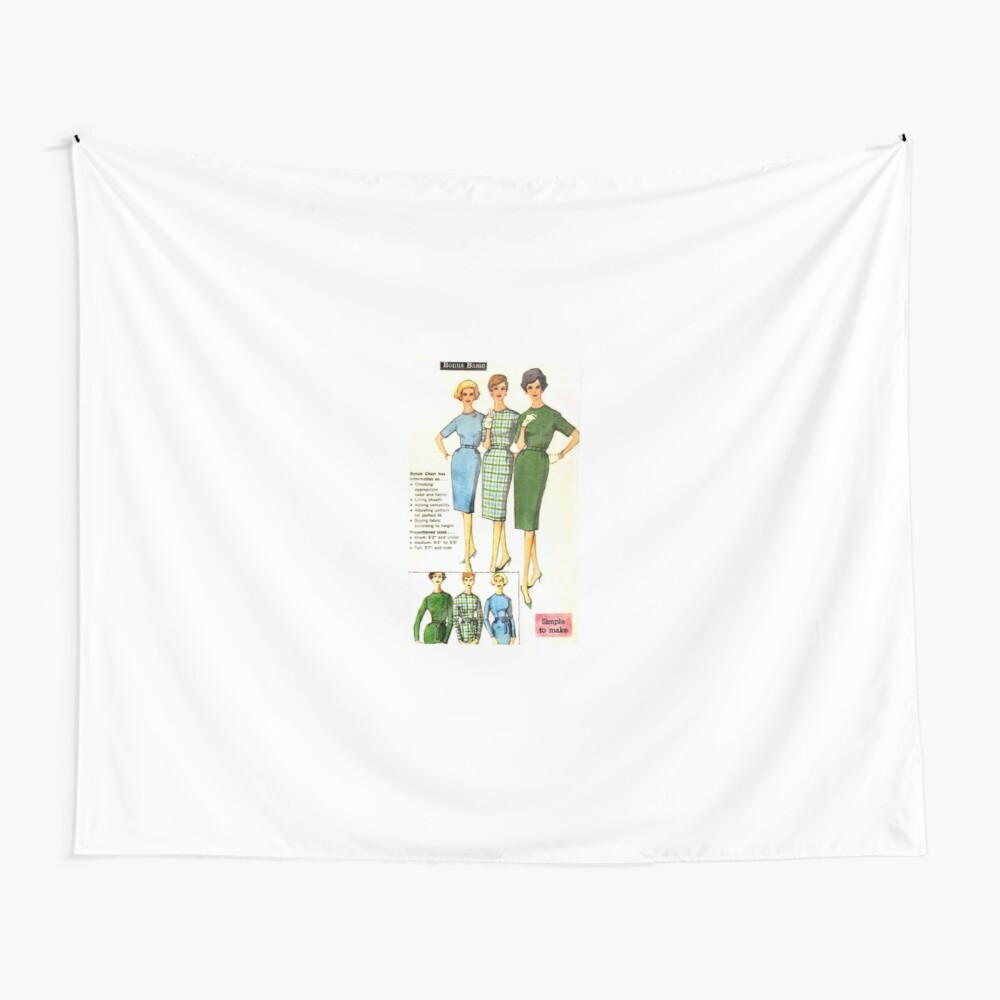 Simplicity Pattern 3574 : Circa Mid 1950's  Wall Tapestry