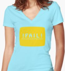 ! FAIL ! Women's Fitted V-Neck T-Shirt