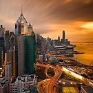 Hong Kong Sunset 2015 by Delfino
