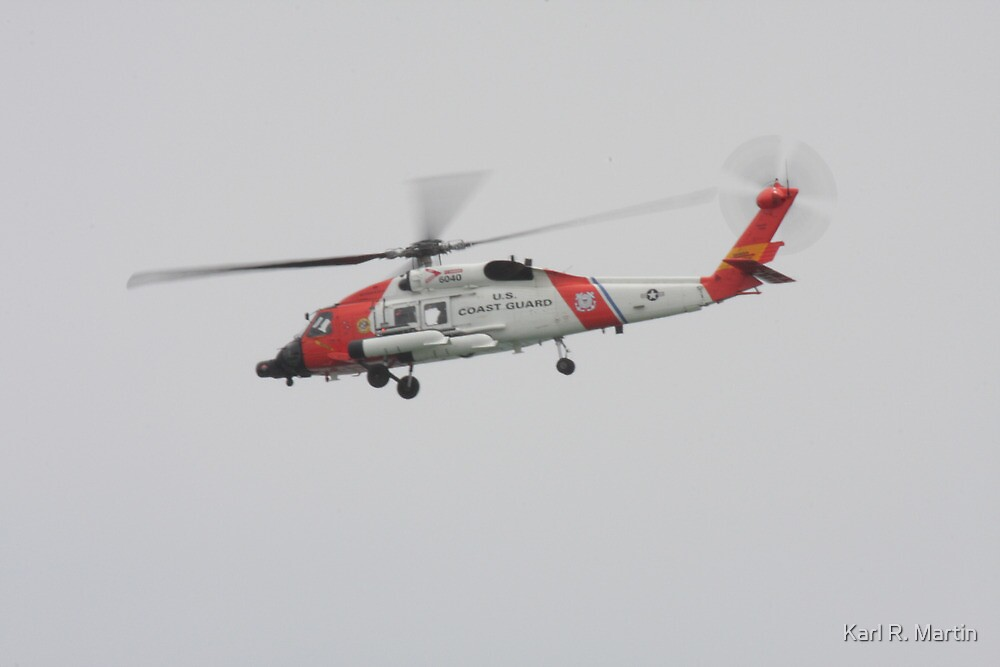 US Coast Guard Helicopter by Karl R. Martin