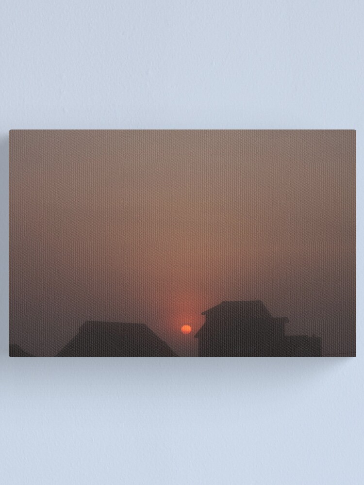 Alternate view of Foggy Sunrise Canvas Print