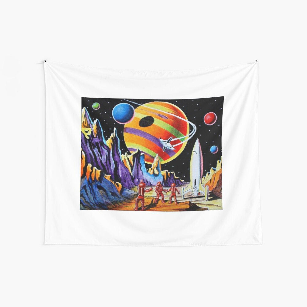 NEW WORLDS Wall Tapestry