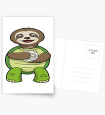 Slater The Slurtle With Coffee Postcards