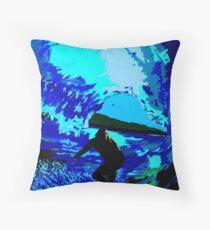 Blue Barrels Throw Pillow