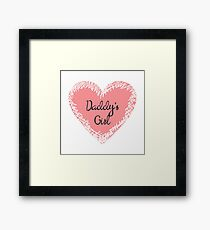 Daddy's Girl for Kids Framed Print