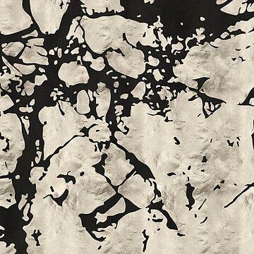 Black Rugged Marble by MyArt23