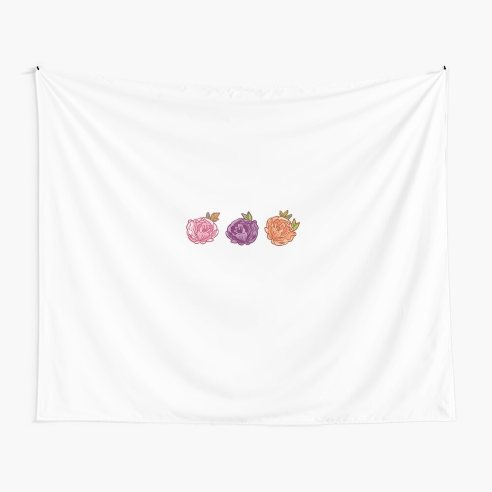 Decorative Roses Wall Tapestry