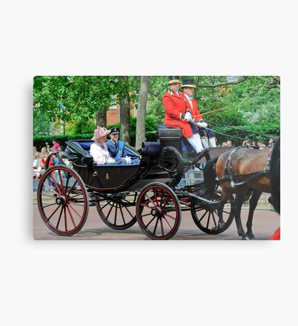 Prince William and Princess Alexandra: Trooping the Colour 2010 Metal Print