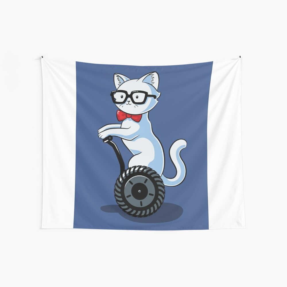 White and Nerdy Wall Tapestry
