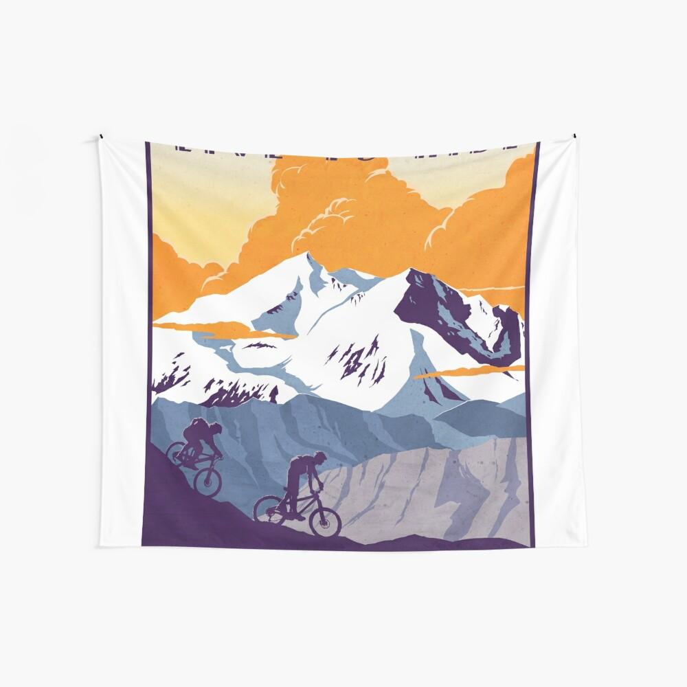 Cartel de ciclismo retro Live to Ride, Ride to Live Tela decorativa