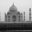 Taj Mahal in black and white by John Dalkin