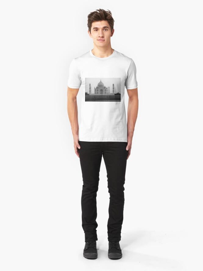Alternate view of Taj Mahal in black and white Slim Fit T-Shirt