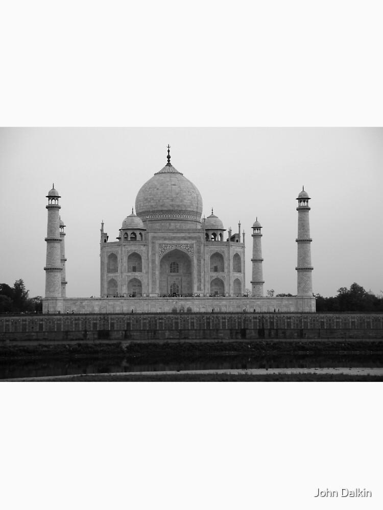 Taj Mahal in black and white by JohnDalkin