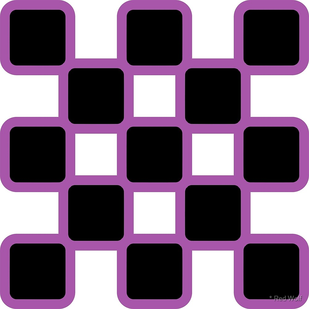 Geometric Pattern: Rounded Weave: Purple/Black by * Red Wolf