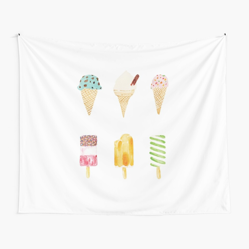 ice cream selection Wall Tapestry