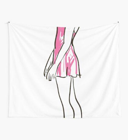 Skizze der Ballerina des Mädchens Wandbehang