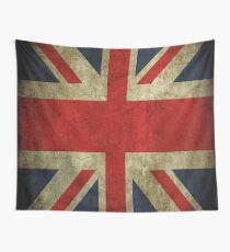 Tela decorativa Antiguo descoloró Union Jack Reino Unido bandera británica