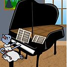 Kitty Piano Practice by elledeegee