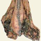 Silk Chiffon Cape. by S Fisher