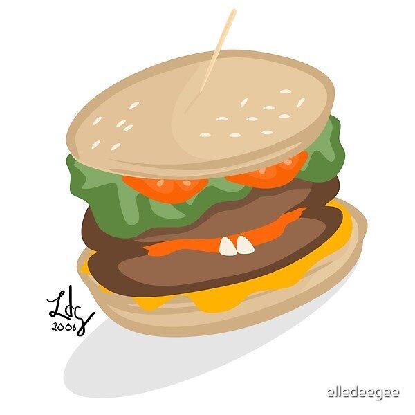 Hamburger Face by elledeegee