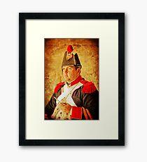 Military Portrait Framed Print
