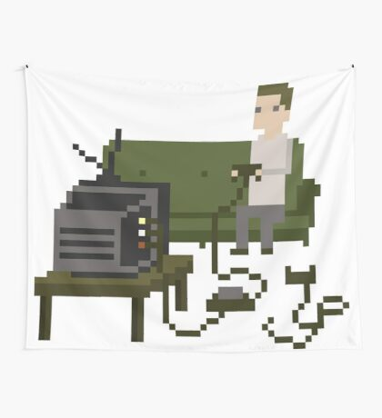 Gamer Pixel Art Wall Tapestry