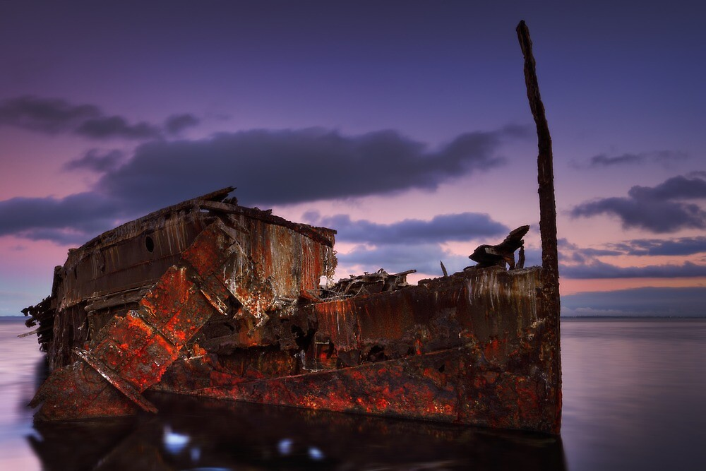 """Wreck of the steamship """"Henry Meakin"""" by Mark Shean"""