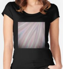 Pastelito  - Ombre Pastel Colors Abstract Art Women's Fitted Scoop T-Shirt
