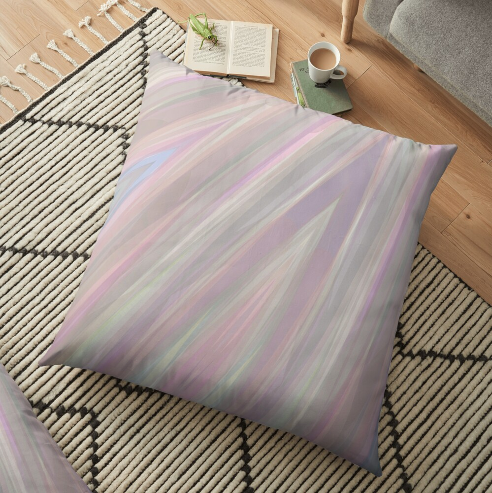 Pastelito  - Ombre Pastel Colors Abstract Art Floor Pillow