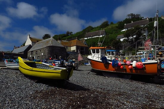 Yellow Boat, Cadgwith Cove, Cornwall by wiggyofipswich