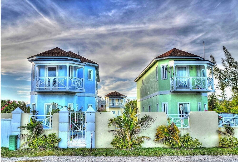 Ocean Front Houses on Eastern Road at Yamacraw Beach - Nassau, The Bahamas by Jeremy Lavender Photography