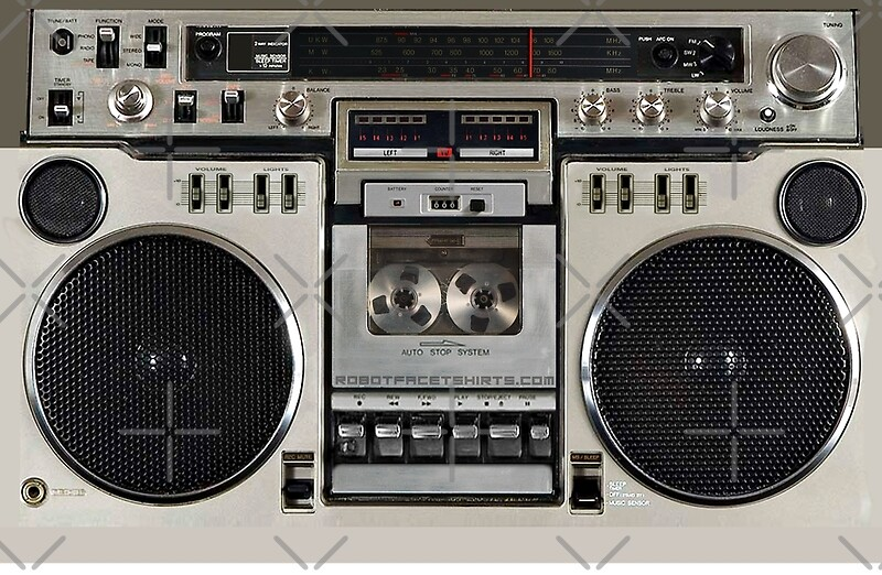 Quot Vintage 80s Boombox Ghettoblaster Quot Laptop Skins By