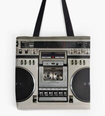 Vintage 80s Boombox Ghettoblaster Tote Bag