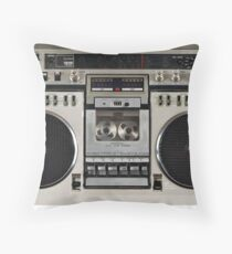 Vintage 80s Boombox Ghettoblaster Throw Pillow