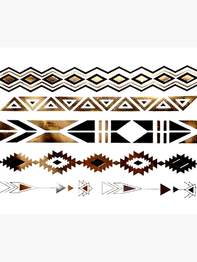 Tribal Aztec Gold y Black Design de NancyAnnDesign