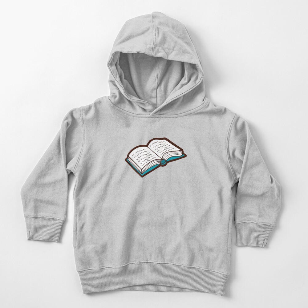 Bookish Reading Pattern in Jade Toddler Pullover Hoodie