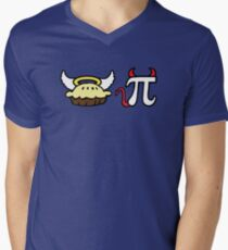 Angel Pie and Devil Pi Mens V-Neck T-Shirt