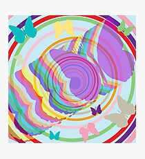 Abstract butterflies Photographic Print