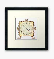 Abstract clock Framed Print