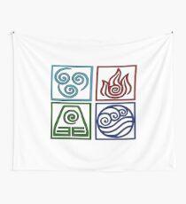 Die vier Elemente -Avatar Wandbehang