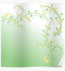Abstract floral background Poster