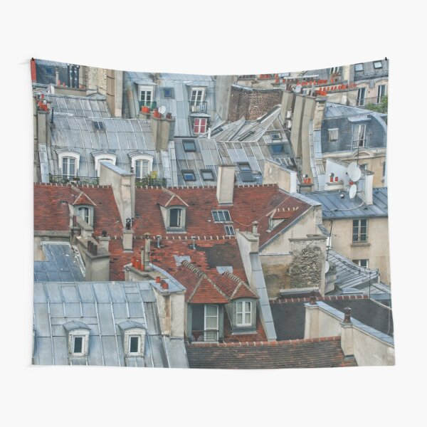 Rooftops of Paris #2 Tapestry