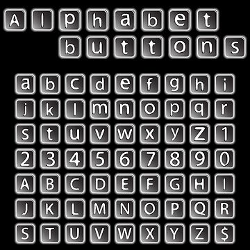 Alphabet buttons collection by robertosch