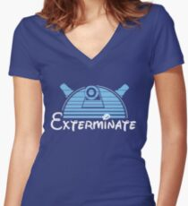 Exterminate Women's Fitted V-Neck T-Shirt
